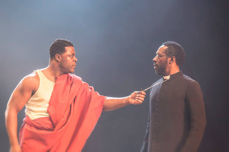 Danny Sapani as Tshembe Matoseh and Gary Beadle as Abioseh Matoseh. Photo by Johan Persson