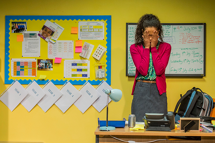 School Play at Southwark Playhouse Fola Evans-Akingbola (Lara) Credit Guy Bell