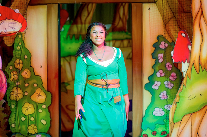 Alexia Khadime as Sleeping Beauty in Hackney Empires Sleeping Beauty Credit Bob Workman