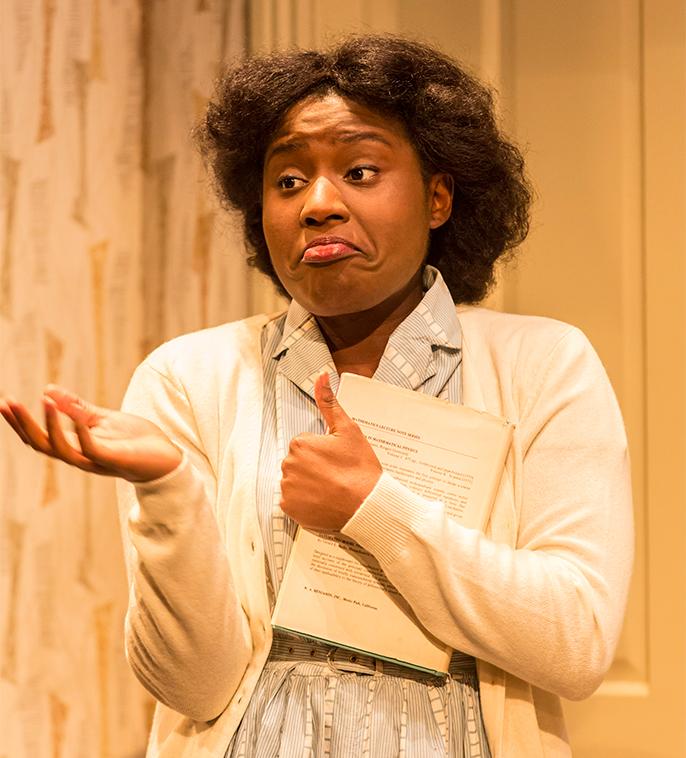 Susan Wokoma as Beneatha Younger. A Raisin in the Sun. Credit Johan Persson