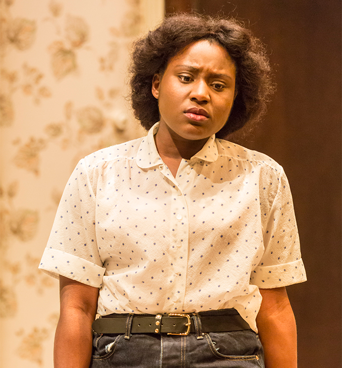 Susan Wokoma as Beneatha Younger in A Raisin in the Sun. Credit Johan Persson