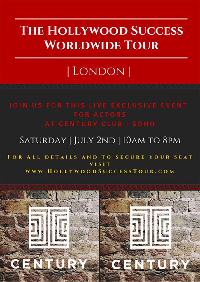 The Hollywood Success Worldwide Tour, London 2016
