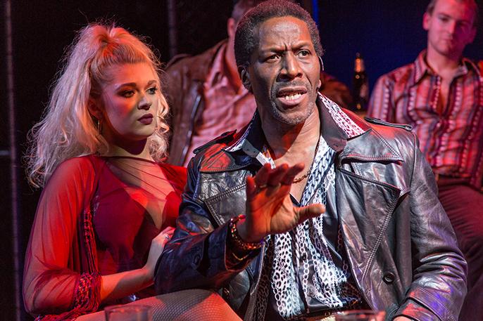 L-R Charlotte Reavey (April) & Cornell S John (Memphis) - The Life at Southwark Playhouse - (c) Conrad Blakemore