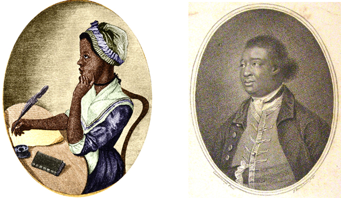 left: Phillis Wheatley and right: Ignatius Sancho, Reproduced by kind permission of Black Cultural Archives