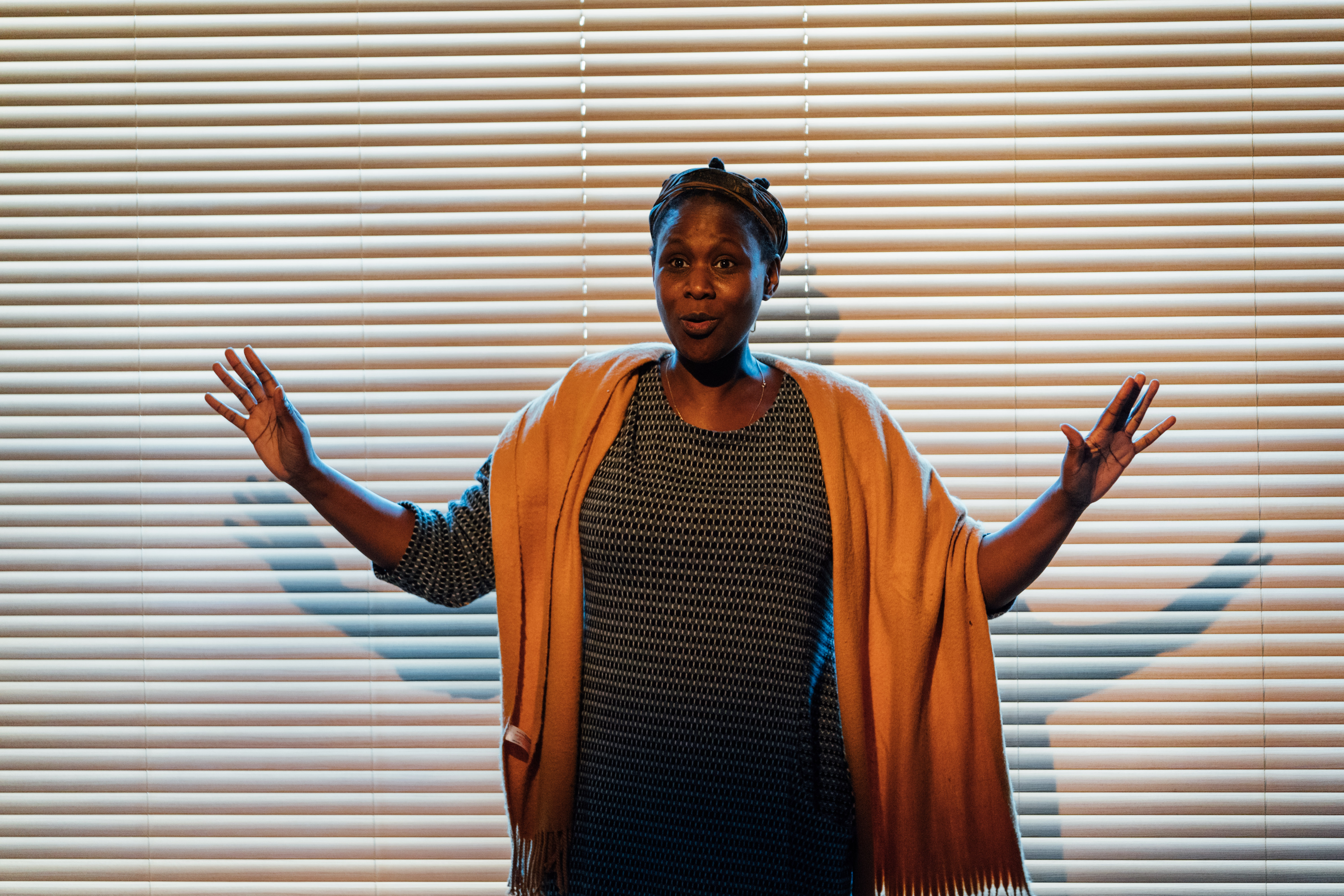 Nicola Alexis in 'A Small Place' at the Gate Theatre. [Photo Helen Murray]