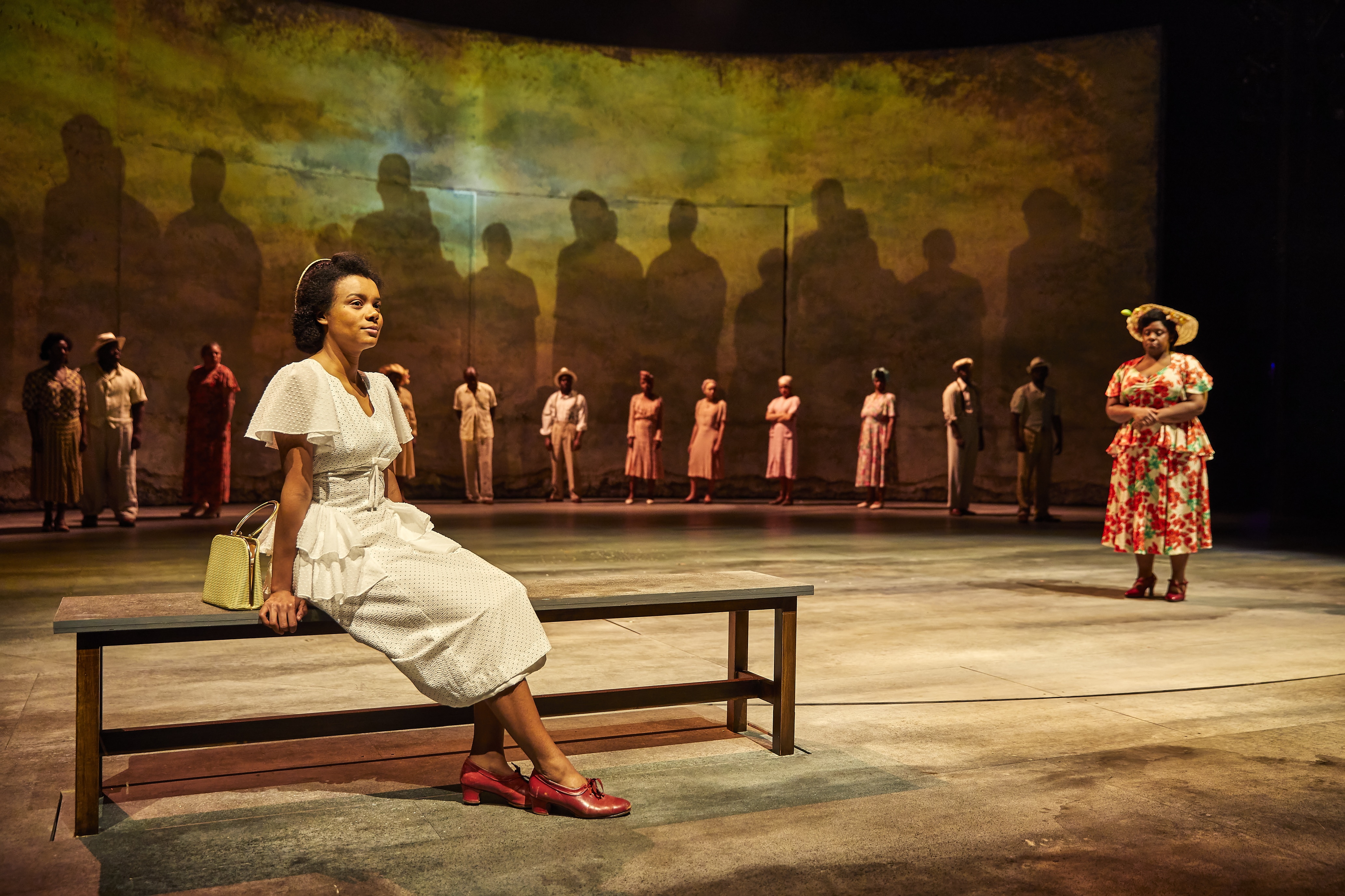 Leah Harvey and Shiloh Coke in Small Island, National Theatre - credit Brinkhoff Moegenburg