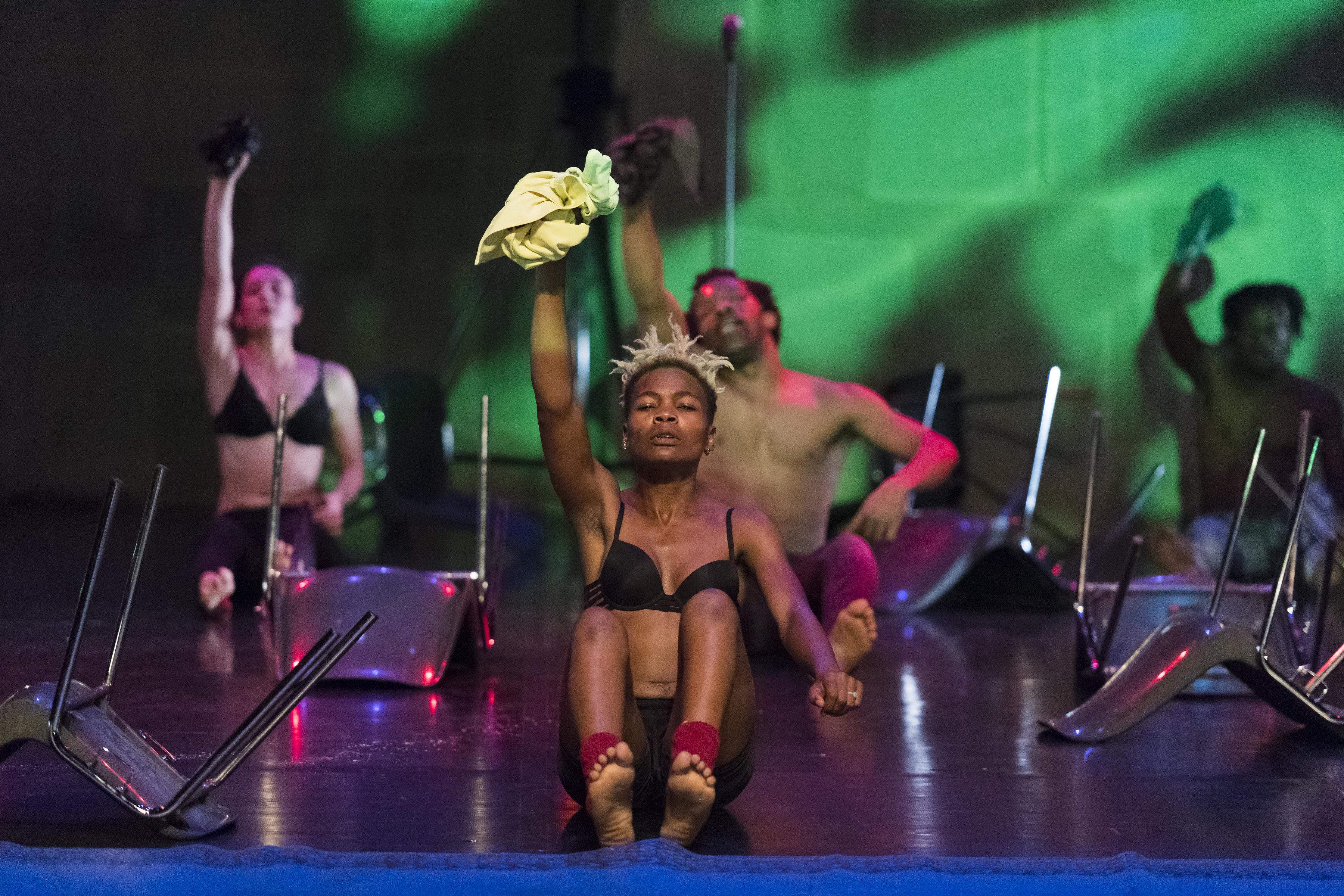Faso Danse Théâtre & Halles de Schaerbeek/Serge Aimé Coulibaly, Kalakuta Republik; Antonia Naouele, Ensemble. Image credit: Doune Photo