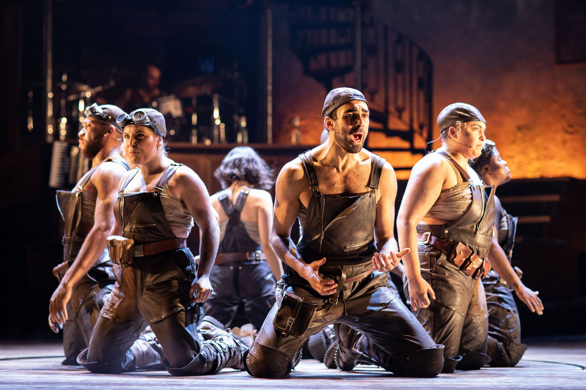 The company of Hadestown at National Theatre (c) Helen Maybanks