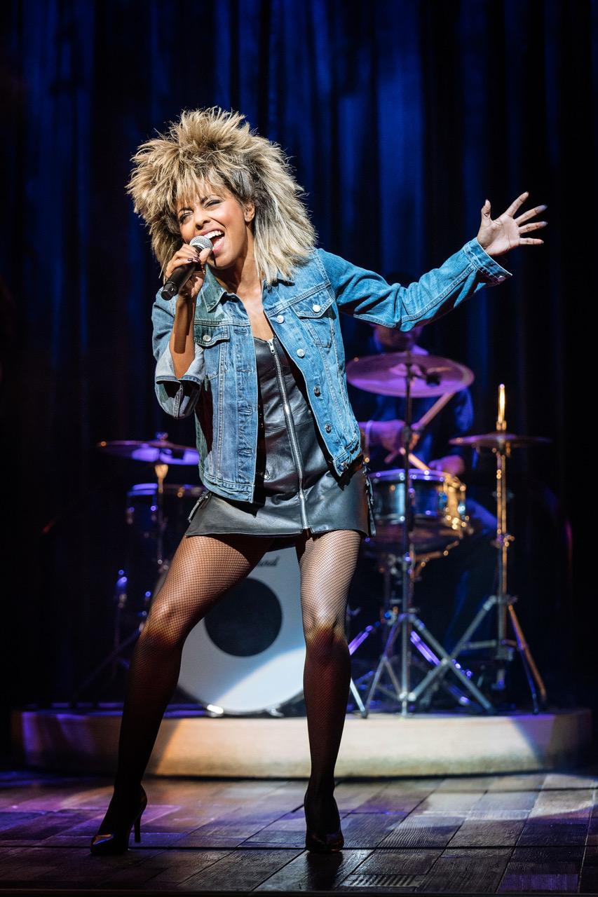 Adrienne Warren as Tina Turner. Photo by Manuel Harlan