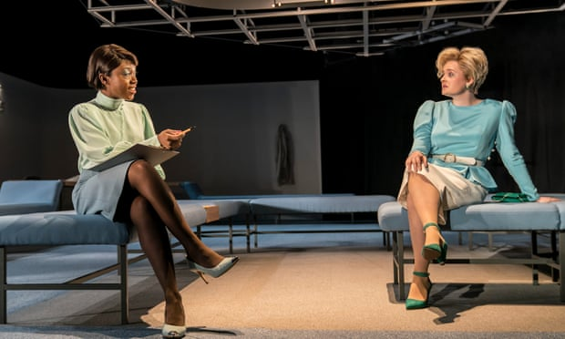 Nadia Williams and Jessica Brindle in Top Girls by Caryl Churchill, Lyttleton, National Theatre Photograph: Johan Persson