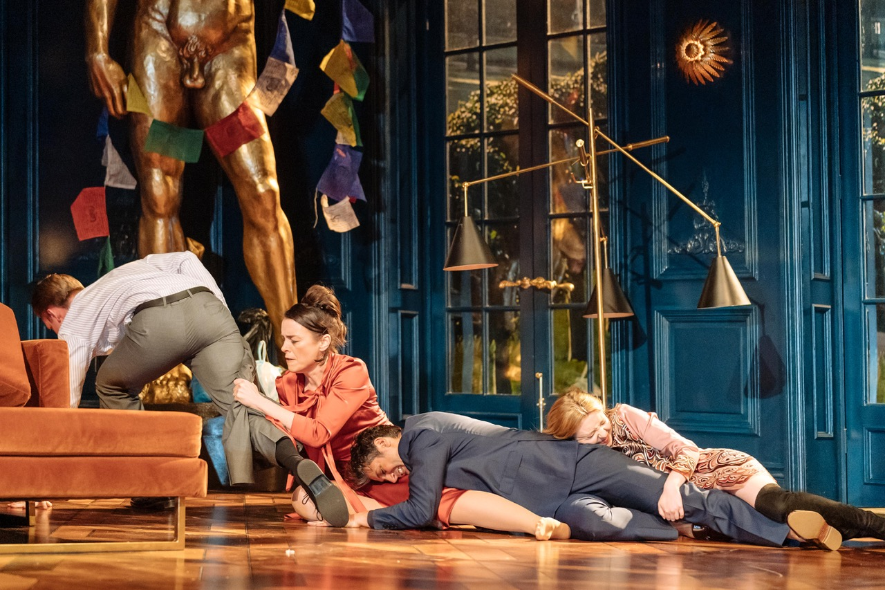 A scene from Tartuffe by Molière in a new version by John Donnelly. [Image by Manuel Harlan]
