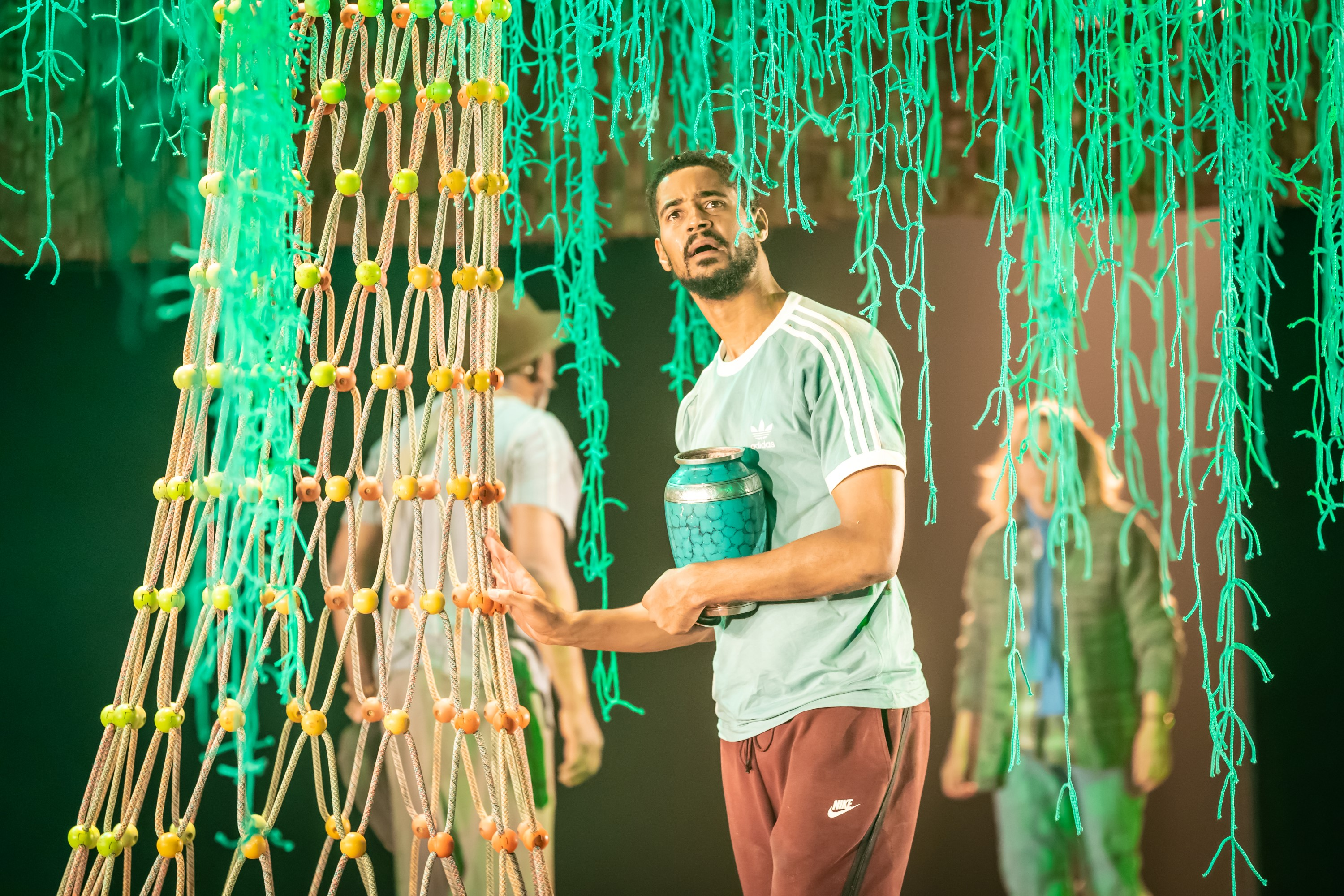 Alfred Enoch in Tree at Manchester International Festival runs at Young Vic from 29 July. Credit Marc Brenner