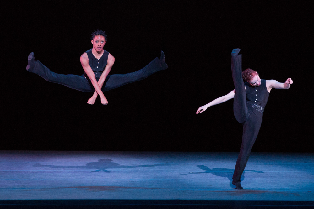 Alvin Ailey American Dance Theater's Jacquelin Harris and Megan Jakel in Robert Battle's Ella. Photo by Teresa Wood
