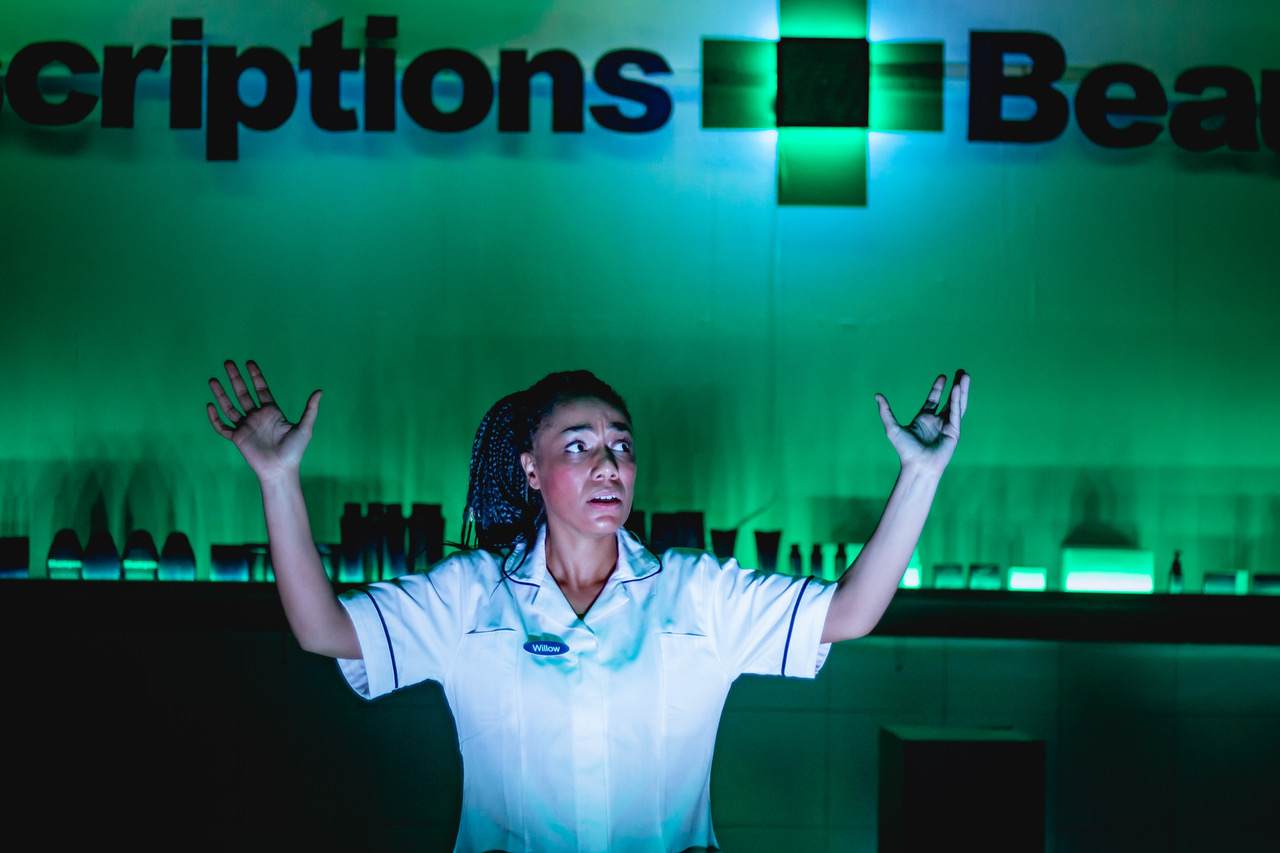 Boots at The Bunker (photographed by Tim Kelly with lighting by Jack Weir and set designed by Lia Waber)