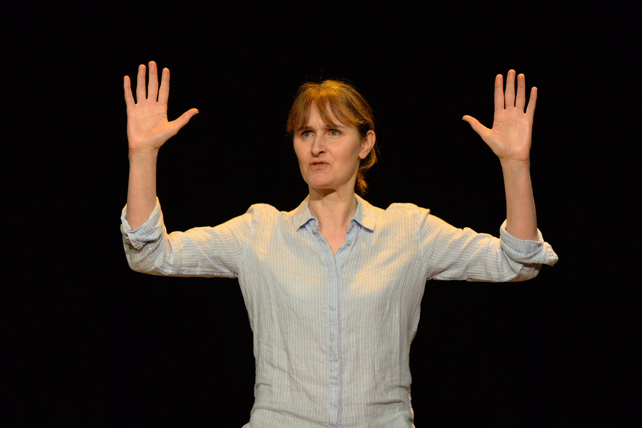 Female Parts Shorts - A Mother. Rebecca Saire (A Mother). Credit - Sharron Wallace