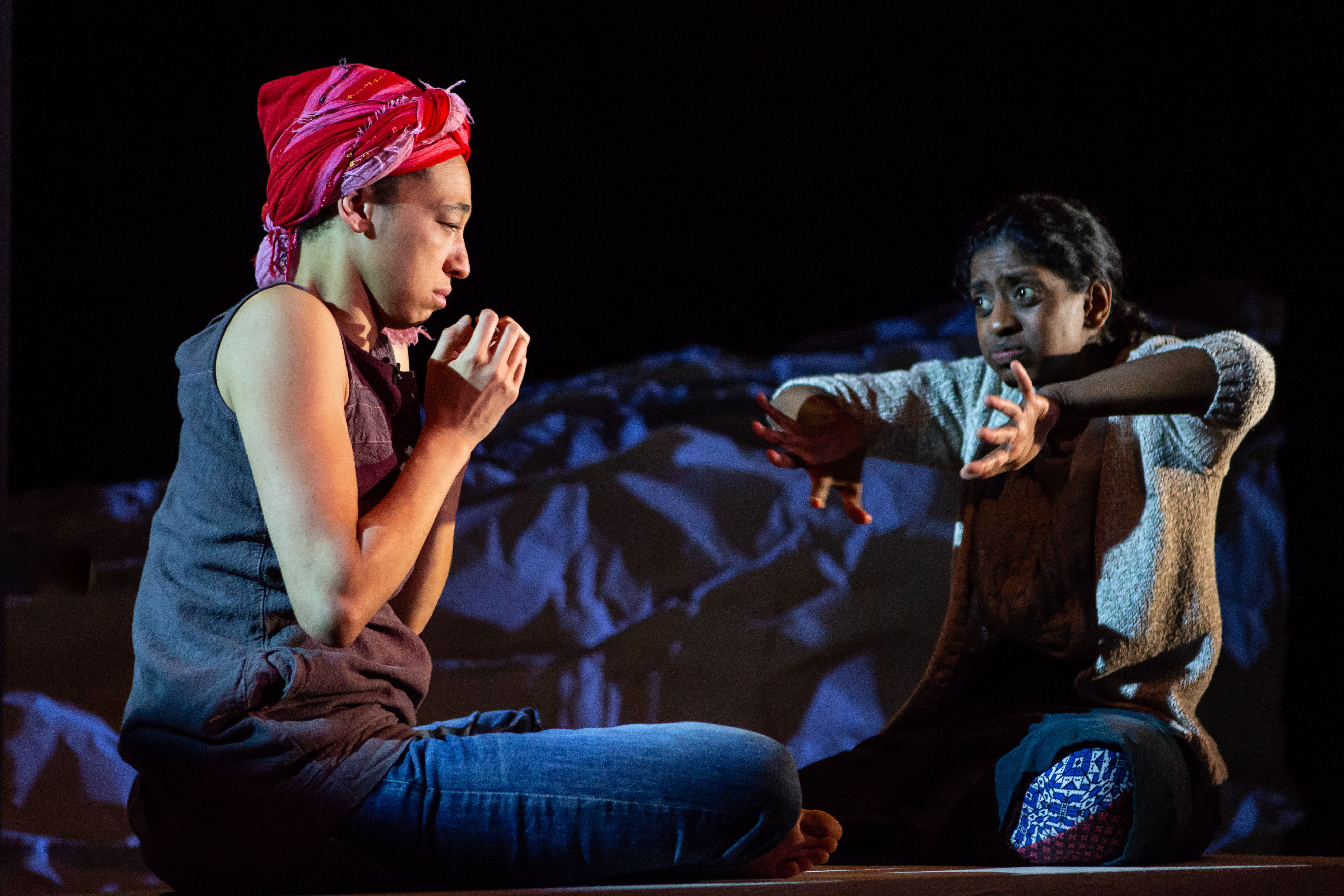 Going Through Production Photos - Charmaine Wombwell & Nadia Nadarajah - Photos by Ali Wright