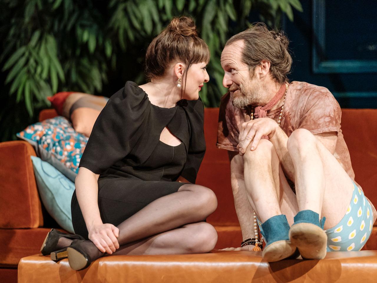 Kathy Kiera Clarke, Denis O'Hare in Tartuffe by Molière in a new version by John Donnelly. [Image by Manuel Harlan]