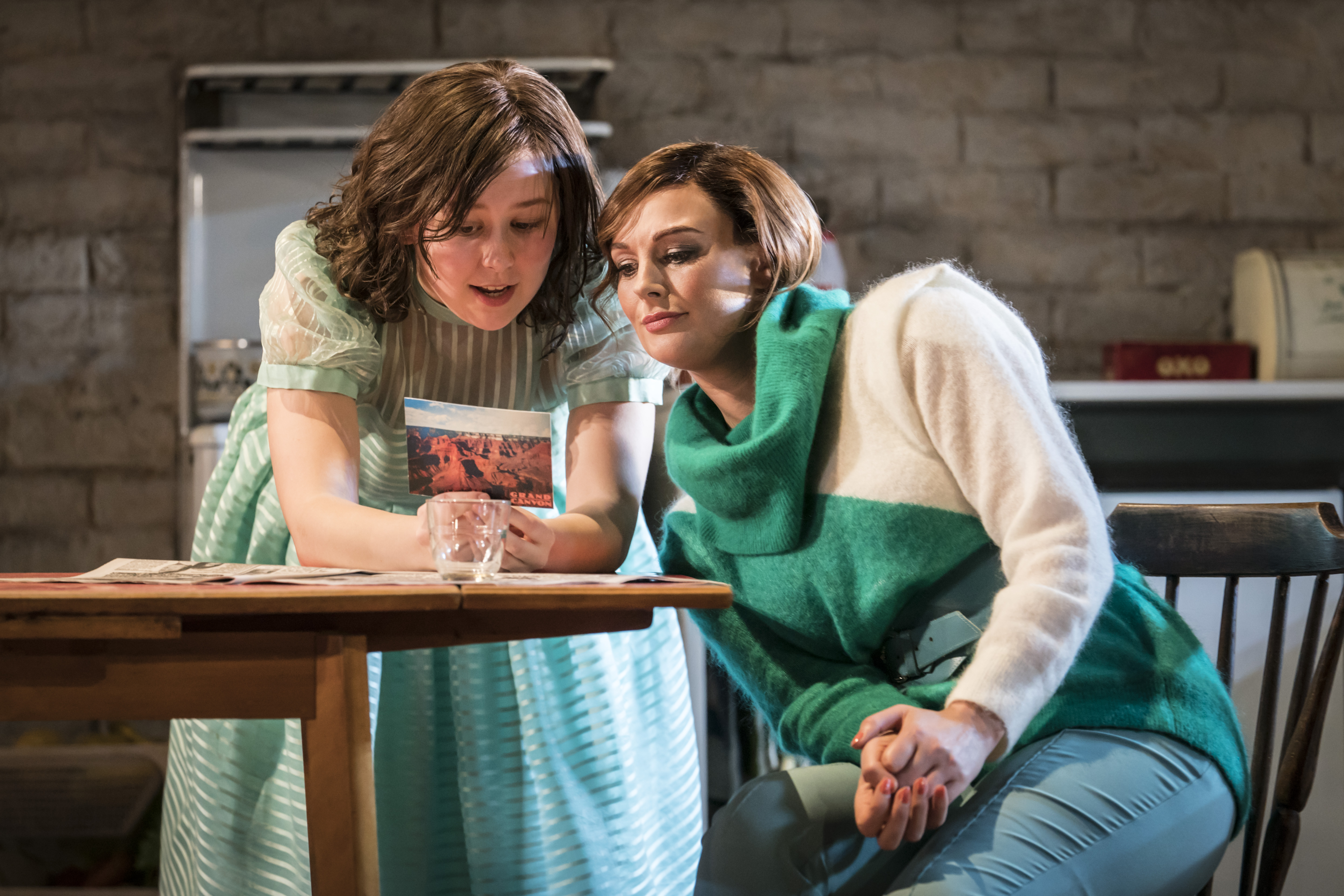 Liv Hill (Angie), Katherine Kingsley (Marlene) in Top Girls by Caryl Churchill, Lyttleton, National Theatre Photograph: Johan Persson