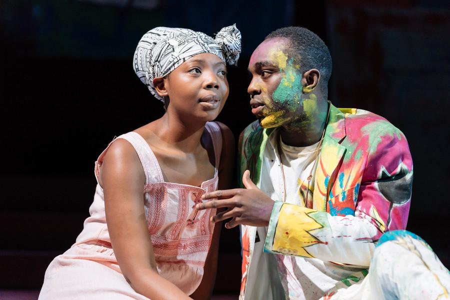 Mimi Ndiweni, Paapa Essiedu. Hamlet 2018 tour production photos (c) Manuel Harlan