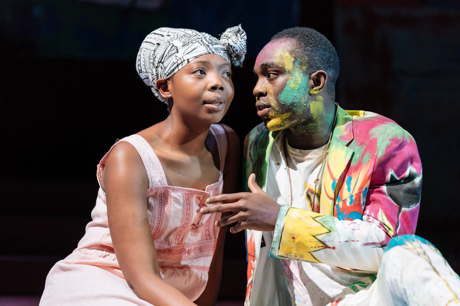 Mimi Ndiweni, Paapa Essiedu - Hamlet 2018 tour production photos (c) Manuel Harlan