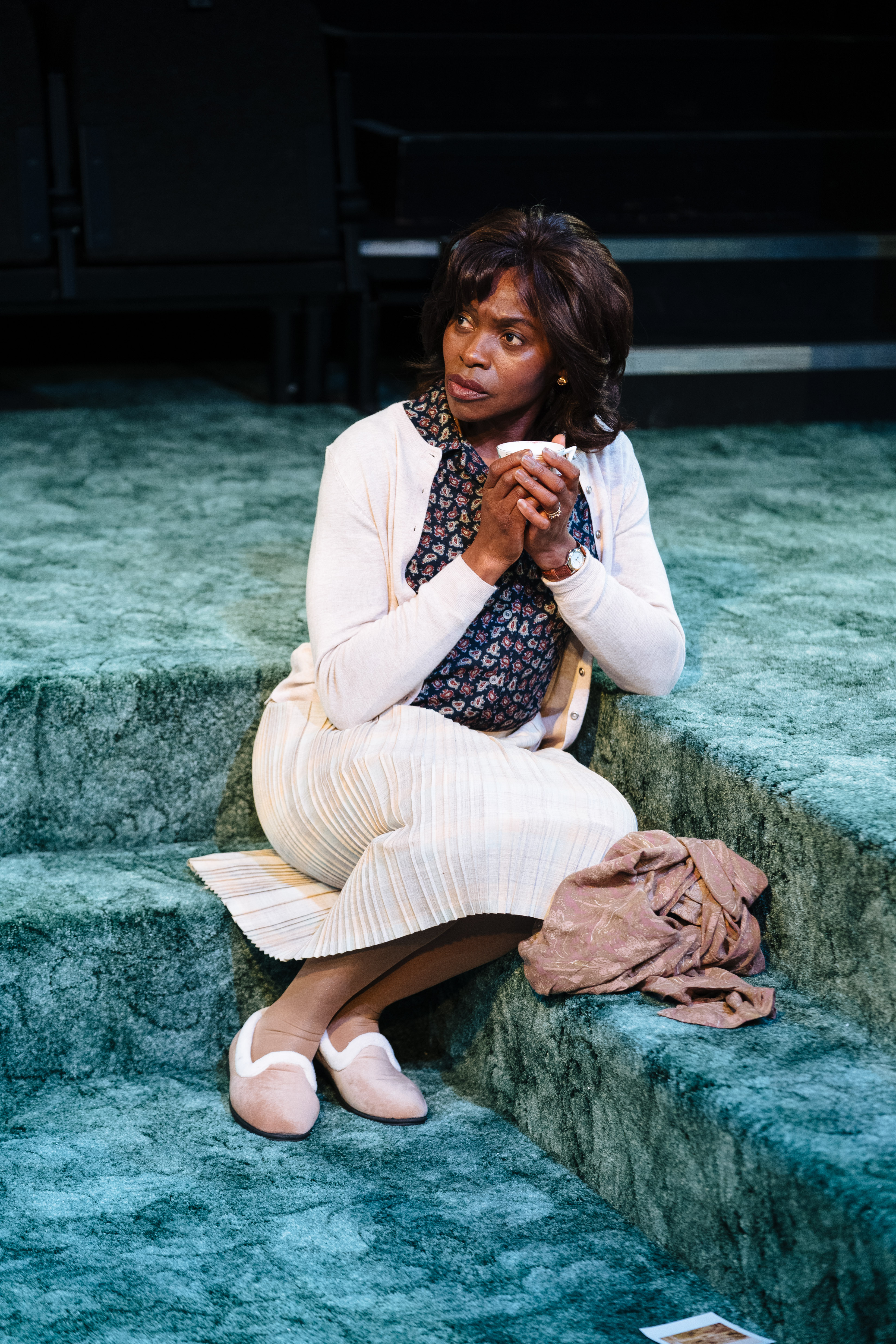 Rakie Ayola as Vivian in 'Strange Fruit' at the Bush Theatre. Photo credit Helen Murray.