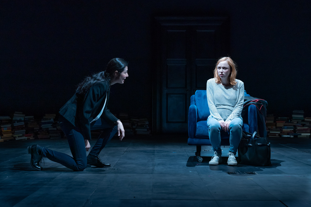Emily Taaffe (Sally) and Anna Savva (Martha) in Jude at Hampstead Theatre. Photo credit Marc Brenner