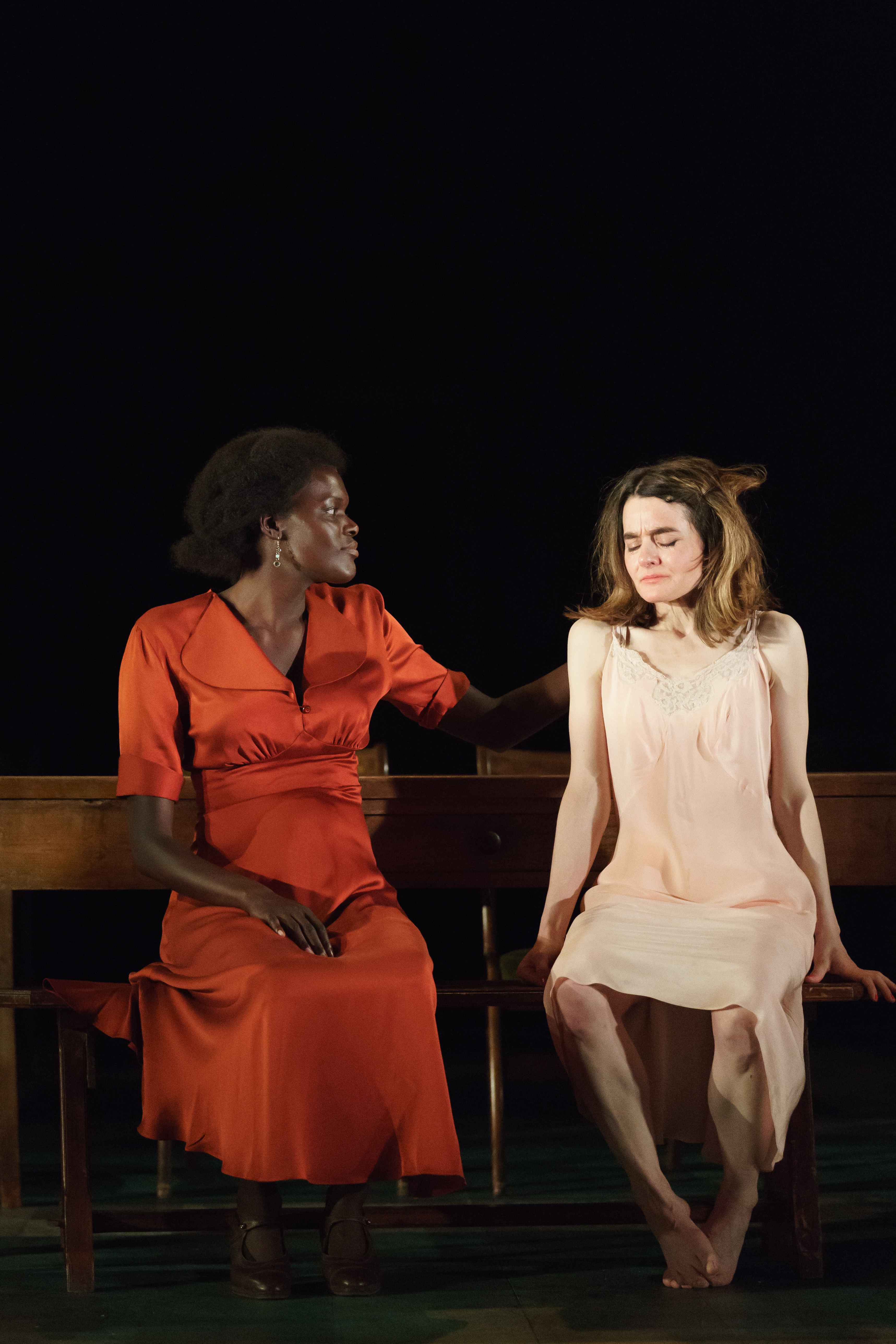 Sheila Atim (Marianne Laine) Shirley Henderson (Elizabeth Laine) in Girl From The North Country at The Old Vic