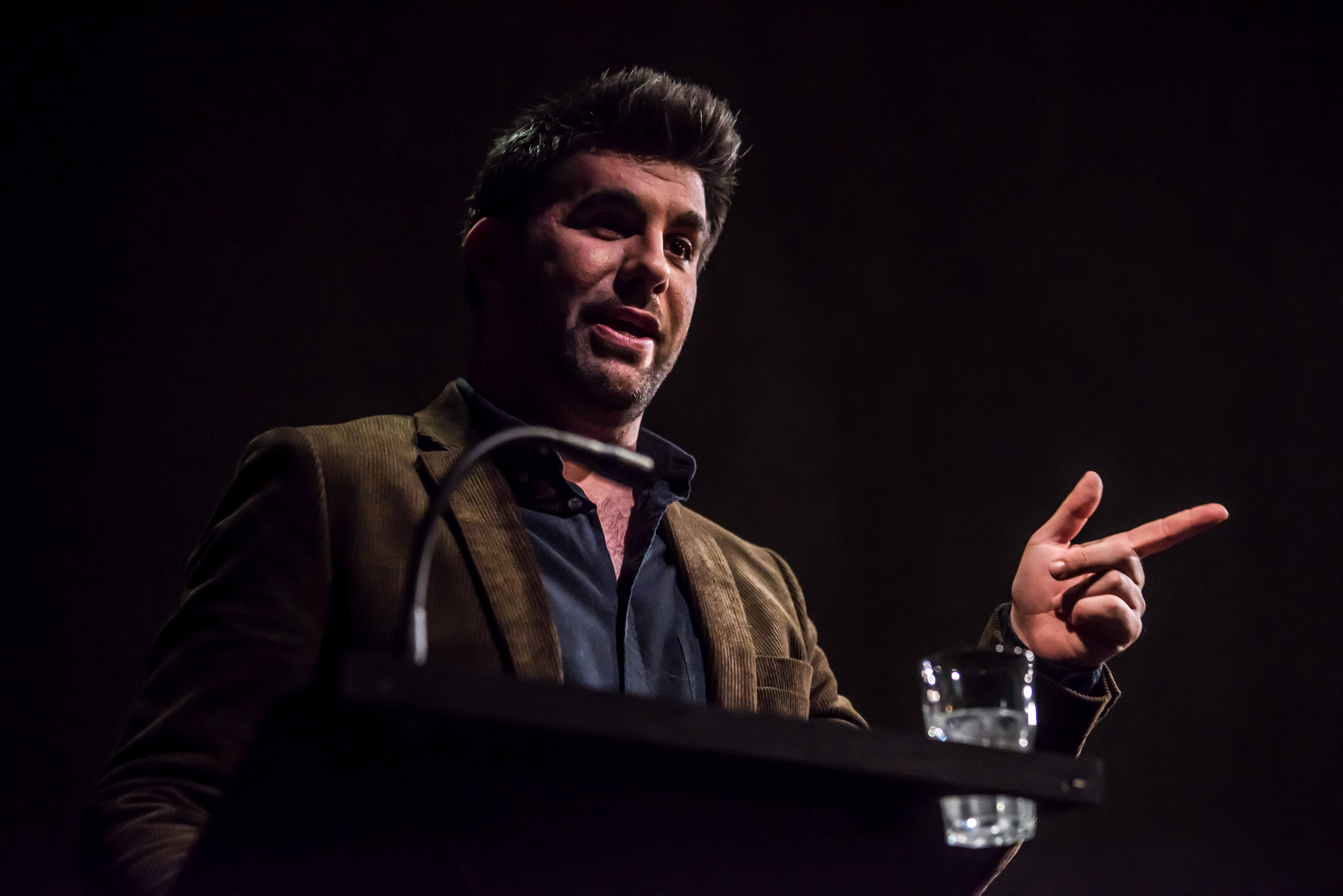 Simon Lipkin (Professor Goodman) in Ghost Stories at the Lyric Hammersmith. Photo credit Chris Payne