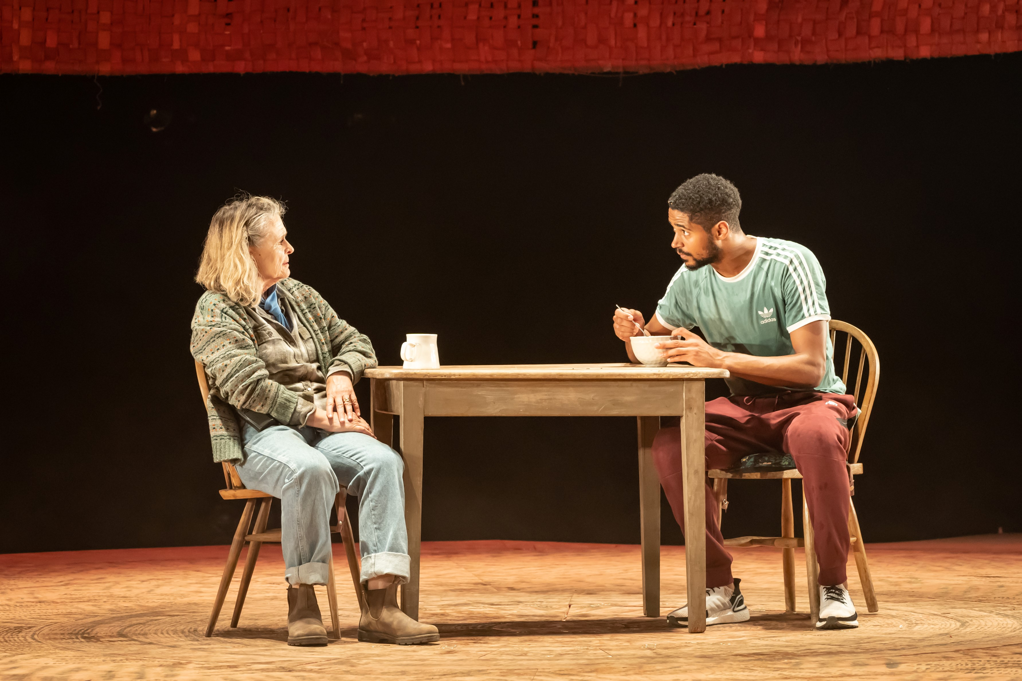 Sinead Cusack and Alfred Enoch in Tree at Manchester International Festival runs at Young Vic from 29 July. Credit Marc Brenner