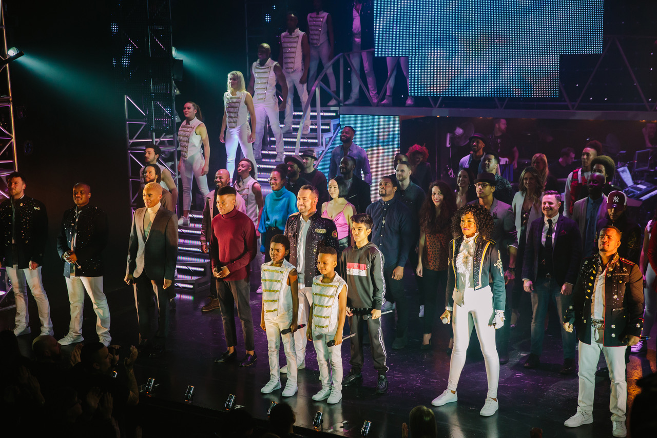 THRILLER LIVE 10TH CELEBRATION Current cast, previous cast members, creatives and producers [Photo Betty Zapata]