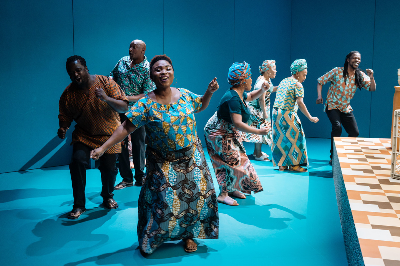 PETRA LETANG in random and The South African Cultural Choir in generations at Chichester Festival Theatre - Photo Manuel Harlan