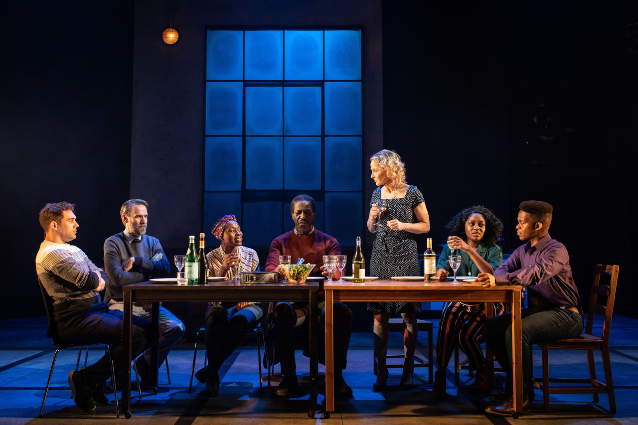 The cast of Leave To Remain at the Lyric Hammersmith. [Photo credit Helen Maybanks]