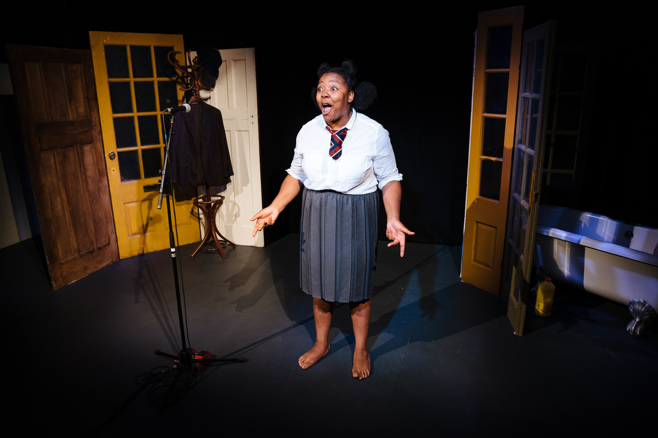 Urielle Klein-Mekongo in 'Yvette' at Bush Theatre. Photo credit - Helen Murray