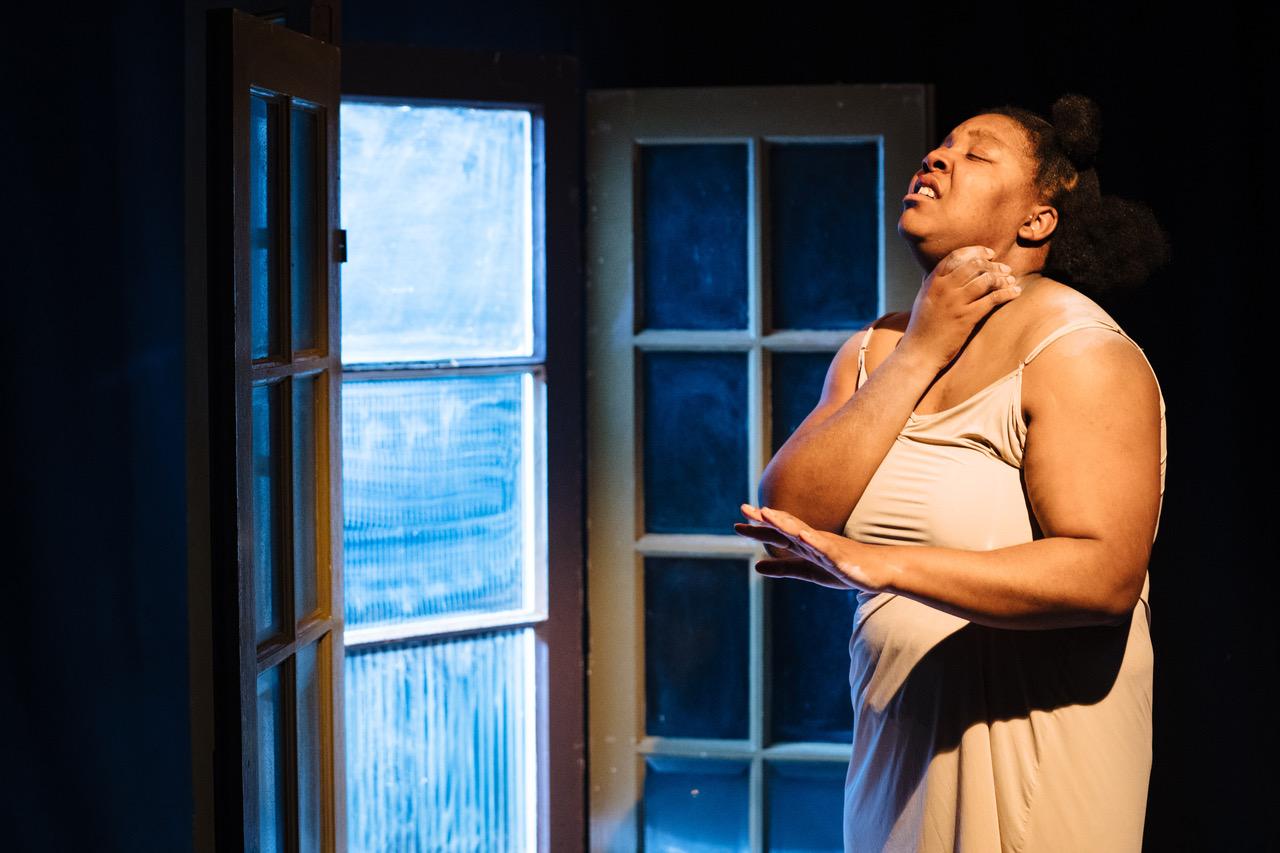 Urielle Klein-Mekongo in 'Yvette' at Bush Theatre. Photo credit - Helen Murray