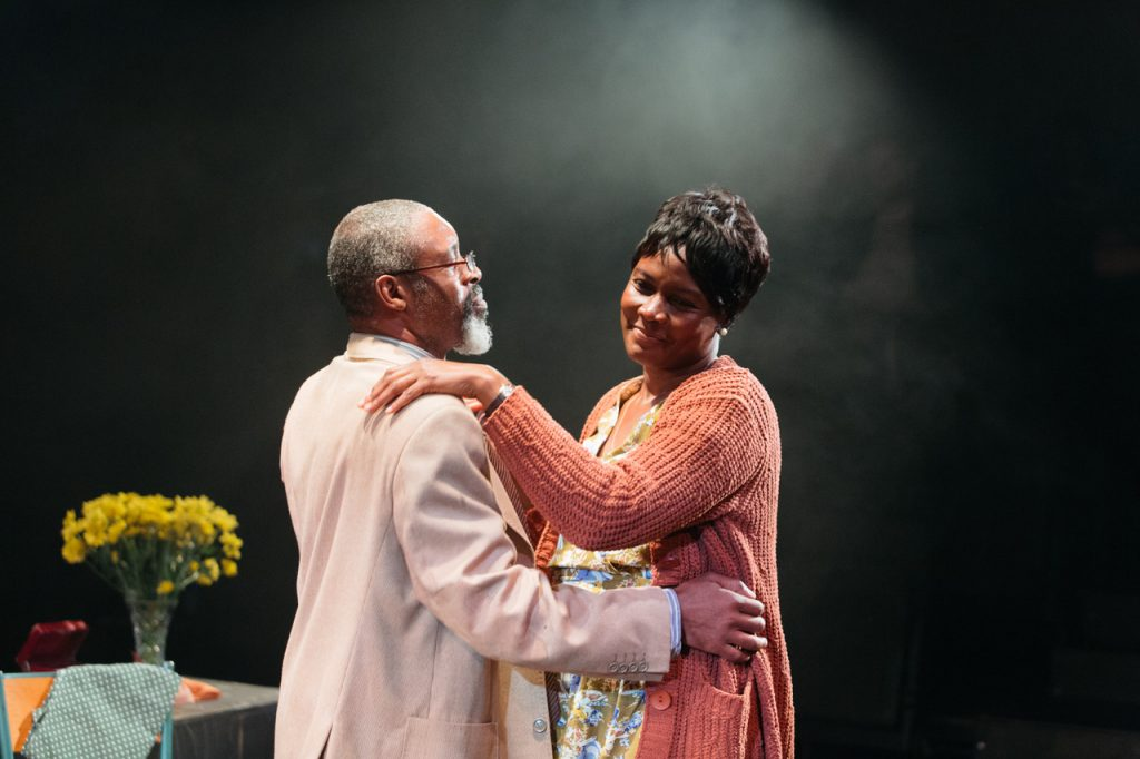 Wil Johnson and Sarah Niles in Leave Taking at the Bush Theatre © Helen Murray