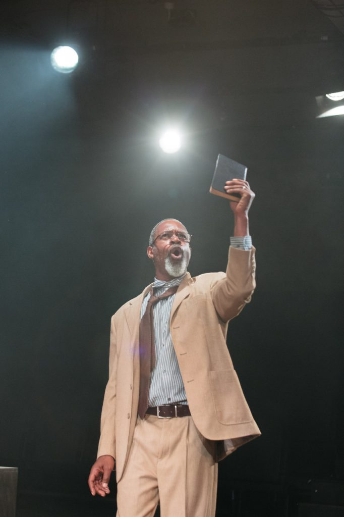 Wil Johnson in Leave Taking at the Bush Theatre © Helen Murray