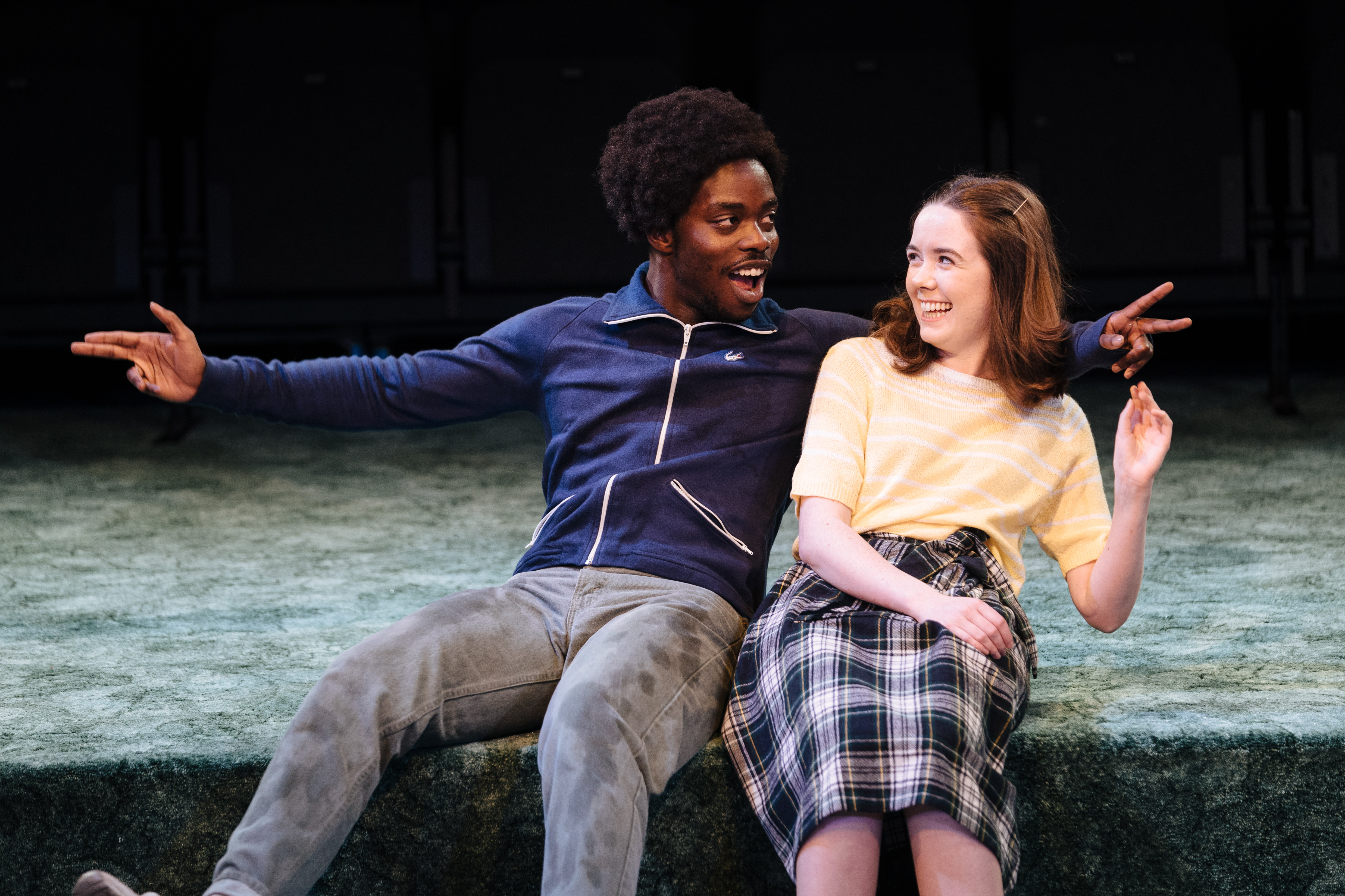 l-r Jonathan Ajayi as Errol and Tilly Steele as Shelley in 'Strange Fruit' at the Bush Theatre. Photo credit Helen Murray