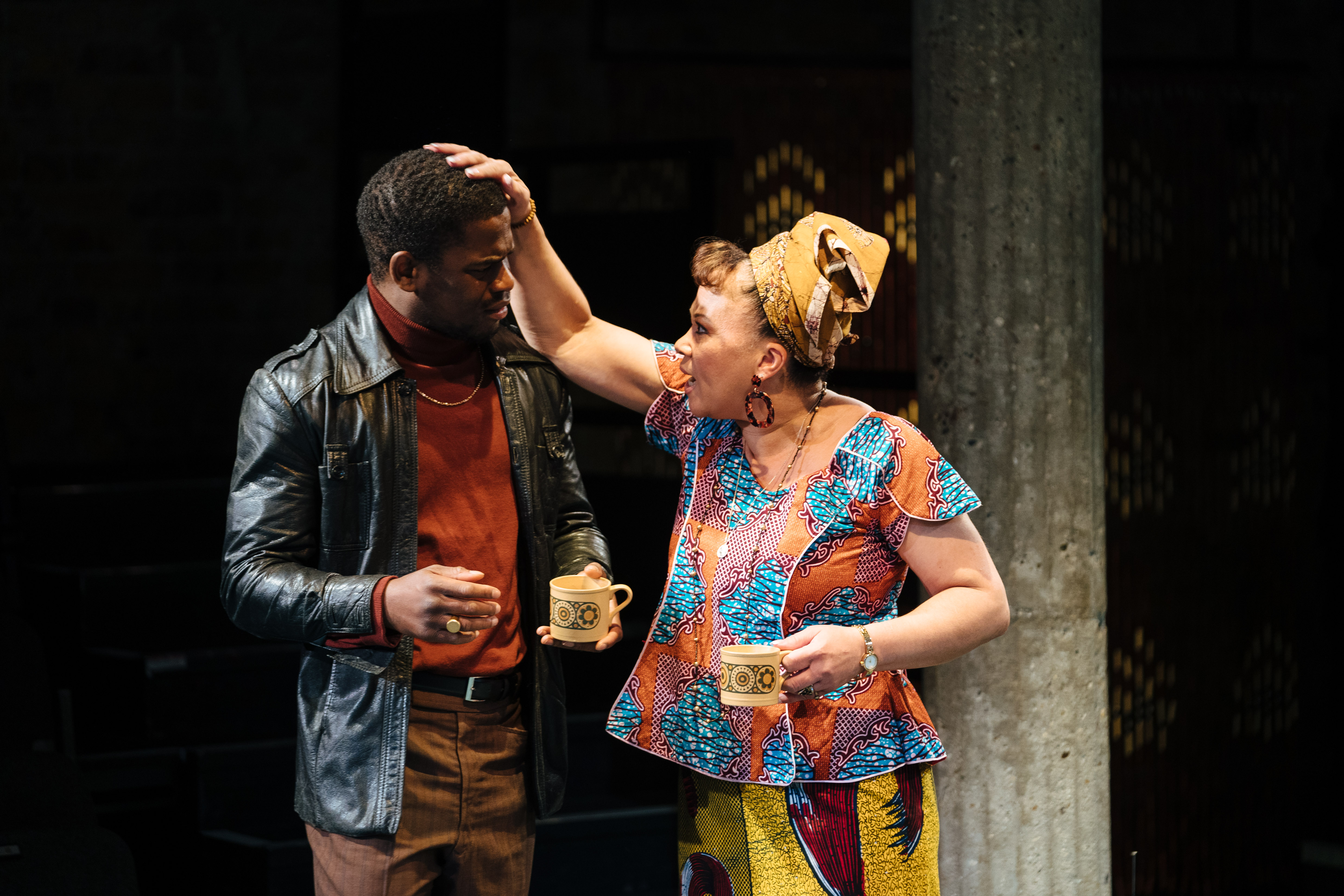 l-r Tok Stephen as Alvin and Debra Michaels as Vernice in 'Strange Fruit' at the Bush Theatre. Photo credit Helen Murray.