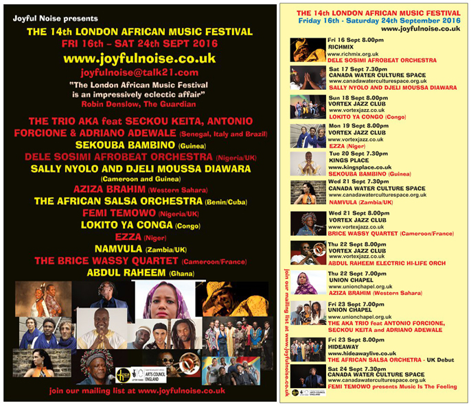 14th London African Music Festival 2016