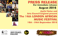 The 14th London African Music Festival