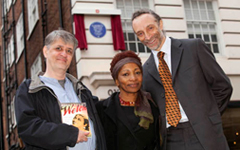 Stephen Bourne, Bonnie Greer and Paul Reid at the unveiling