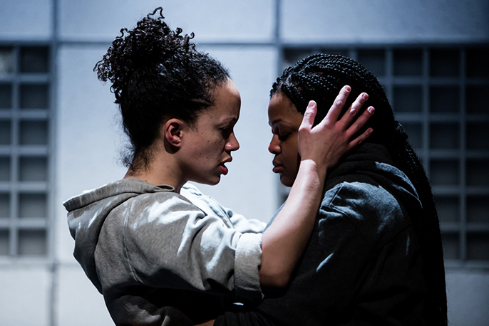 Hopelessly Devoted by Kate Tempest. Cat Simmons (Chess) and Gbemisola Ikumelo (Serena). Photo credit Richard Davenport