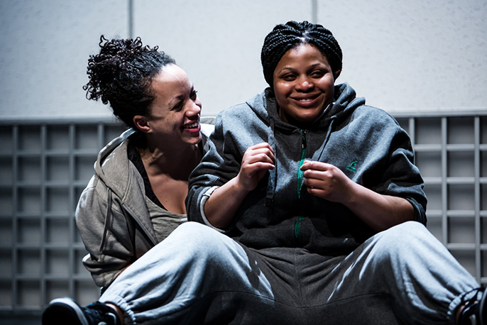 Hopelessly Devoted by Kate Tempest. Cat Simmons (Chess) and Gbemisola Ikumelo (Serena). Photo credit Richard Davenport.