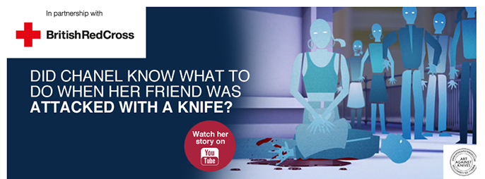 British Red Cross and Art Against Knives Campaign