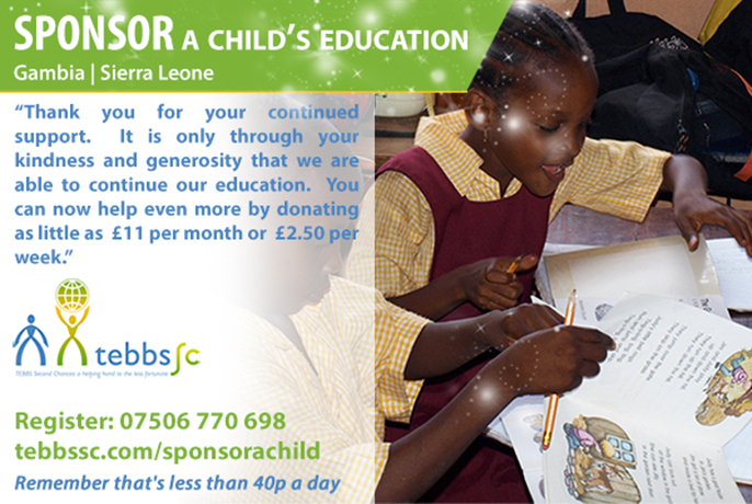 Sponsor a Child with Tebbs SC