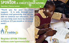 Sponsor a child's education with Tebbs Second Chances