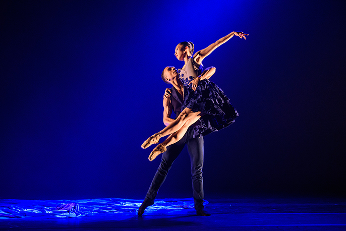 Ballet Black      To Begin, Begin by Christopher Marney Dancers Jacob Wye and Sayaka Ichikawa Photo Bill Cooper