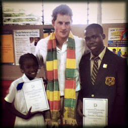 HRH Prince Harry met the first two young Jamaicans