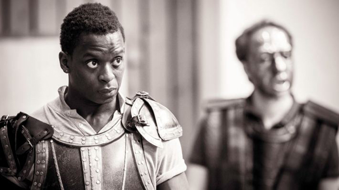 Kobna-Holdbrook-Smith in Edward II, National Theatre Photo by Johan Persson.