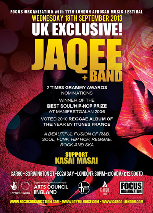JAQEE + band, London African Music Festival